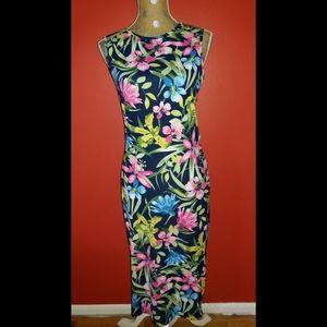 NIB Asos Tropical Print Midi Dress